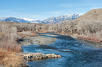 South Fork of the Shoshone River in the Shoshone National Forest Wyoming
