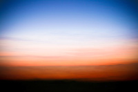Desert Sunset Abstract - Arizona. Yes, this is a photograph - I moved the camera to the left and right with an open shutter to create this abstract effect.