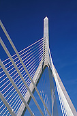Leonard P. Zakim Bunker Hill Bridge, the widest cable-stayed bridge in the world, Boston, MA
