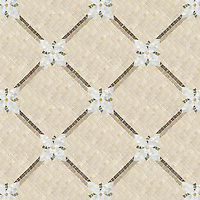 Name: Flower Lattice 1.0cm<br /> Style: Classic<br /> Product Number: NRFFLWLSMALL<br /> Description: 24&quot;x 24&quot; Flower Lattice in Verde Luna, Crema Valencia, Calacatta Tia, Verde Luna (p) Crema Marfil (t), Montevideo, Jura Gray (h)