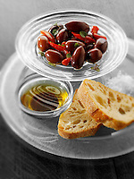 Black olives and balsamic dip