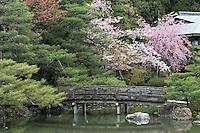 The gardens of the Heian Shrine (Heian Jingu), Kyoto, Japan.