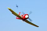 Owner and pilot Mike Brown pilots the highly modified Hawker Sea Fury &quot;September Fury&quot; into the Valley of Speed during an Unlimited Heat Race while competing in the 2008 Reno Championship Air Races. September Fury is a previous National Champion when it finished first in the 2006 with a speed of 481.619 mph over the 67.29 mile course.