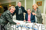 """Book Signing : Listowel author singing his book """" The Best of Billy Keane"""" at the Listowel Arms Hotel on Friday night last. L- R : Mary & Christy Sheehy, Billy Keane & Bernie O'Shaughnessy."""