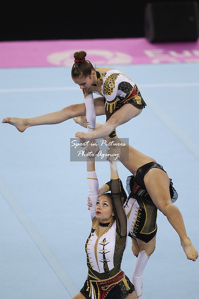 Belgium. Women's Group All-Around Acrobatic Gymnastics. National Gymnastics Arena. Baku2015. 1st European Games. Baku. Azerbaijan. 19/06/2015. MANDATORY CREDIT Dan Chesterton/SIPPA - NO UNAUTHORISED USE - +447837 394578