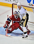 21 September 2009: Pittsburgh Penguins' center Evgeni Malkin (71) stands outside the crease during a pre-season game against the Montreal Canadiens at the Bell Centre in Montreal, Quebec, Canada. The Canadiens edged out the defending Stanley Cup Champions 4-3. Mandatory Credit: Ed Wolfstein Photo