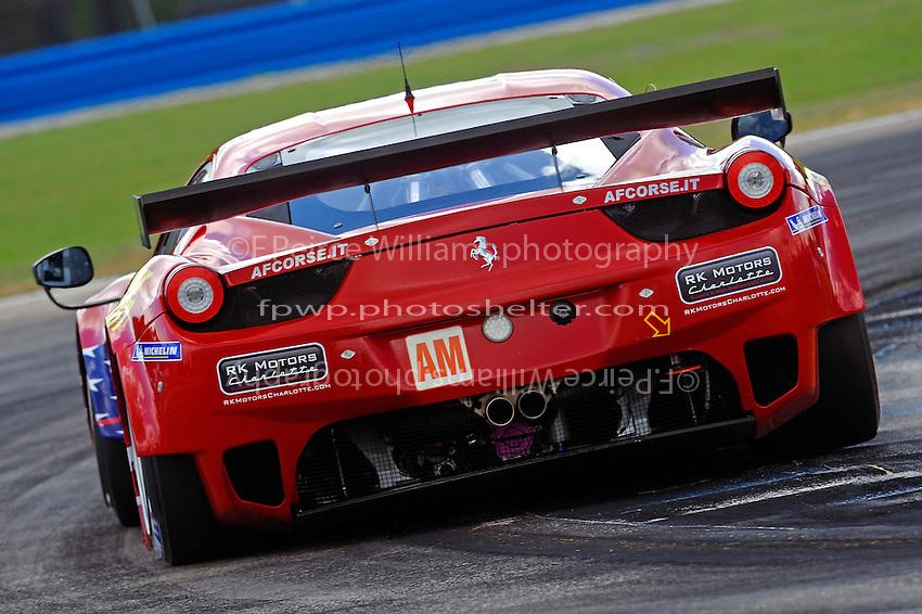 #61 AF Corse-Waltrip Ferrari F458 Italia (LMGTE Am) of Robert Kauffman, Michael Waltrip & Rui Aguas