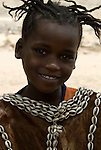 Themay girl, Themay Tribe Village, Omo Valley, Ethiopia, portrait, person, one, tribes, tribal, indigenous, peoples, Southern, ethnic, rural, local, traditional, culture, primitive, young.Africa....