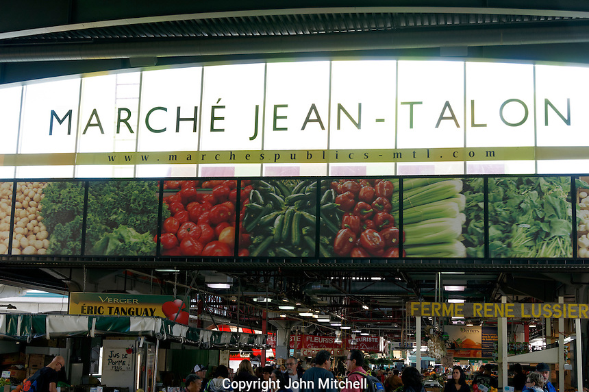 Interior of the Jean Talon Market, Montreal, Quebec, Canada