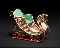 BNPS.co.uk (01202 558833)<br /> Pic: Bonhams/BNPS<br /> <br /> ***Please Use Full Byline***<br /> <br /> Rare Marklin Tinplate Sleigh. <br /> <br /> <br /> A creepy collection of almost 100 'lifelike' dolls modelled on children has emerged for sale with a whopping half a million pounds price tag. <br /> <br /> The eerie-looking toys were made in Germany in the early 20th century as dollmakers strived to produce dolls with realistic human features.<br /> <br /> The collection of 92 dolls, which includes some of the rarest ever made, has been pieced together by a European enthusiast over the past 30 years.<br /> <br /> It is expected to fetch upwards of &pound;500,000 when it goes under the hammer at London auction house Bonhams tomorrow (Weds).