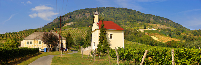 Chapel and wine cellar in the Badascony vineyards, Balaton, Hungary