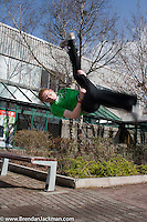 Parkour demonstration at Waterford Institute of Technology