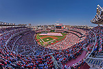 6 April 2015: A sellout crowd of 42,295 watch opening ceremonies prior to the Washington Nationals Season Opening Game against the New York Mets at Nationals Park in Washington, DC. The Mets rallied to defeat the Nationals 3-1 in their first meeting of the 2015 MLB season. Mandatory Credit: Ed Wolfstein Photo *** RAW (NEF) Image File Available ***