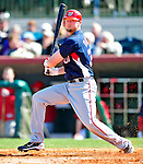 4 March 2010: Washington Nationals' first baseman Chris Duncan in action during the Nationals-Astros Grapefruit League Opening game at Osceola County Stadium in Kissimmee, Florida. The Houston Astros defeated the Nationals split-squad 15-5 in Spring Training action. Mandatory Credit: Ed Wolfstein Photo