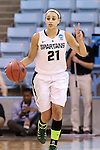 23 March 2014: Michigan State's Klarissa Bell. The Michigan State University Spartans played the Hampton University Lady Pirates in an NCAA Division I Women's Basketball Tournament First Round game at Cameron Indoor Stadium in Durham, North Carolina. Michigan State won the game 91-61.