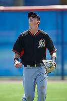 Miami Marlins right fielder Sean Reynolds (46) during an Instructional League game against the New York Mets on September 29, 2016 at the Port St. Lucie Training Complex in Port St. Lucie, Florida.  (Mike Janes/Four Seam Images)