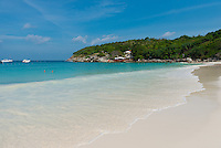 Turquoise waters of Andaman sea on Patok bay, Raya island, Thailand