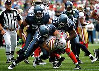 Seahawks vs 49ers<br /> Tatupu buries Gore