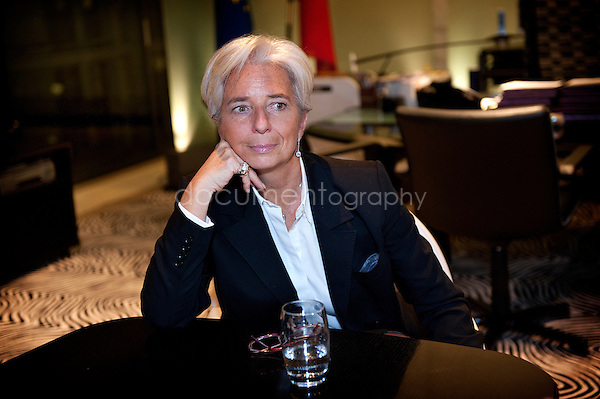 Christine Lagarde..Copyright: Magali Corouge /Documentography.The 7 th of February 2011, Paris. Christine Lagarde,Minister of Economic Affairs, Finances and Industry of France.