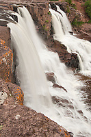 Gooseberry Falls at Gooseberry Falls State Park near Duluth Minnesota.