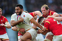 Billy Vunipola of England takes on the Wales defence. RBS Six Nations match between England and Wales on March 12, 2016 at Twickenham Stadium in London, England. Photo by: Patrick Khachfe / Onside Images