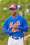 8 March 2015: New York Mets pitcher Rafael Montero warms up prior to a Spring Training game against the Boston Red Sox at Tradition Field in Port St. Lucie, Florida. The Mets fell to the Red Sox 6-3 in Grapefruit League play. Mandatory Credit: Ed Wolfstein Photo *** RAW (NEF) Image File Available ***
