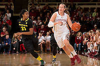 STANFORD, CA - January 3, 2014: Stanford Cardinal's Mikaela Ruef during the Pac-12 Opener versus the Oregon Ducks at Maples Pavilion.  Stanford defeated the Ducks 96-66.