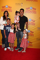 LOS ANGELES - JUL 12:  Courtney Mazza, Mario Lopez and daughter (in his arms), and his neices and nephew arrives at 'Dragons' presented by Ringling Bros. & Barnum & Bailey Circus at Staples Center on July 12, 2012 in Los Angeles, CA