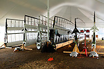 Establisment of the Class catamaran at the New York Yacht Club International C Class Catamaran Championships..All the wings in the Tent.