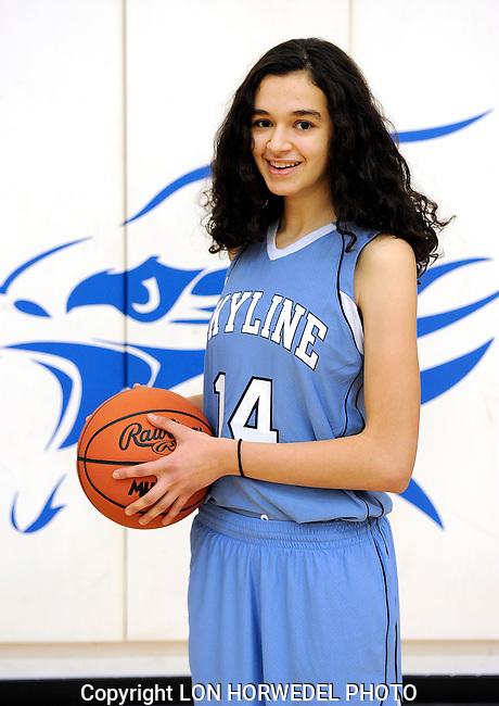 Skyline High School girl's junior varsity basketball team, 2014-15.