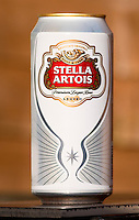 Can of Stella Lager - 09 March 2014.