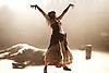 Carmen Disruption <br /> at Almeida Theatre, London, Great Britain <br /> press photocall<br /> 16th April 2015 <br /> <br /> Viktoria Vizin as The Chorus <br /> <br /> <br /> <br /> Photograph by Elliott Franks <br /> Image licensed to Elliott Franks Photography Services