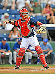 15 March 2008: Washington Nationals' catcher Jesus Flores in action during a Spring Training game against the Los Angeles Dodgers at Space Coast Stadium, in Viera, Florida...Mandatory Photo Credit: Ed Wolfstein Photo