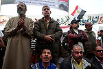 Protesters gather to shout slogans in Tahrir Square, on November 27, 2011 in Cairo, Egypt.