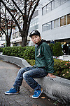 Yokohama, November 20 2014 - Portrait of Aki OKUDA, student and member of the SASPL (Students Against Secret Protection Law)