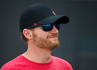 Sep 16, 2016; Concord, NC, USA; NASCAR Sprint Cup Series driver Dale Earnhardt Jr in attendance during NHRA qualifying for the Carolina Nationals at zMax Dragway. Mandatory Credit: Mark J. Rebilas-USA TODAY Sports