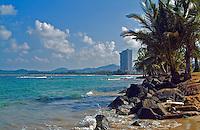 """'Balneario Luquillo' Puerto Rico caribbean beach Rocks, Waves, Agua Water, Commonwealth Puerto Rico """"Estado Libre Asociado de Puerto Rico"""""""
