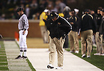 18 November 2006: Wake Forest head coach Jim Grobe stares at the ground after a Virginia Tech scoring play. The Virginia Tech Hokies defeated the Wake Forest University Demon Deacons 27-6 at Groves Stadium in Winston-Salem, North Carolina in an Atlantic Coast Conference NCAA Division I College Football game.