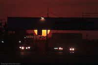 Sunset during the 1977 IMSA race at Sebring, Florida.