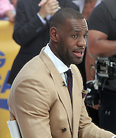 NEW YORK, NY-August 18: LeBron James at Good Morning America to talk about his Foundation [LJFF] in New York. August 18, 2016. Credit: RW/MediaPunch
