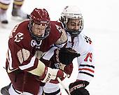 Tommy Atkinson (BC - 28), Cody Ferriero (Northeastern - 79) - The Northeastern University Huskies defeated the visiting Boston College Eagles 2-1 on Saturday, February 19, 2011, at Matthews Arena in Boston, Massachusetts.