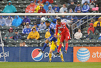 Roger Espinoza , Julio Martinez...Kansas City Wizards played to a 2-2 tie with Chicago Fire at Community America Ballpark, Kansas City, Kansas.