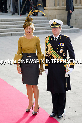 "CROWN PRINCE WILLEM-ALEXANDER AND CROWN PRINCESS MAXIMA OF HOLLAND.Wedding of HRH the Hereditary Grand Duke and Countess Stéphanie de Lannoy.Religious Ceremony at Cathedral of Our lady of Luxembourg, Luxembourg_20-10-2012.Mandatory credit photo: ©Dias/NEWSPIX INTERNATIONAL..(Failure to credit will incur a surcharge of 100% of reproduction fees)..                **ALL FEES PAYABLE TO: ""NEWSPIX INTERNATIONAL""**..IMMEDIATE CONFIRMATION OF USAGE REQUIRED:.Newspix International, 31 Chinnery Hill, Bishop's Stortford, ENGLAND CM23 3PS.Tel:+441279 324672  ; Fax: +441279656877.Mobile:  07775681153.e-mail: info@newspixinternational.co.uk"