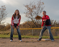 Britney & Eric's engagement session on October 27, 2014. Photos were taken at Mill Creek Park in Youngstown and at a ball diamond at Boardman Park, Boardman, OH.