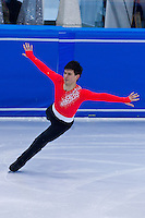 David Richcardson (GBR) performs during the mens figure skating world cup held in Budapest's Practice Ice Center. Budapest, Hungary. Sunday, 09. January 2011. ATTILA VOLGYI