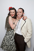 Natasha Plig and Josef Guding are pictured at The 2012 Historic Houses Trust of NSW annual Fifties Fair at Rose Seidler House, Sydney. Picture James Horan