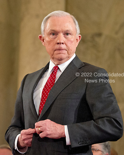 United States Senator Jeff Sessions (Republican of Alabama) prepares to be sworn-in during the US Senate Judiciary Committee confirmation hearing on his nomination to be Attorney General of the United States on Capitol Hill in Washington, DC on Tuesday, January 10, 2017.<br /> Credit: Ron Sachs / CNP