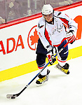10 February 2010: Washington Capitals' left wing forward and Team Captain Alex Ovechkin in first period action against the Montreal Canadiens at the Bell Centre in Montreal, Quebec, Canada. The Canadiens defeated the Capitals 6-5 in sudden death overtime, ending Washington's team-record winning streak at 14 games. Mandatory Credit: Ed Wolfstein Photo