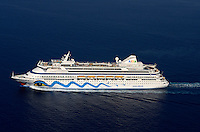 Aida sailing out of Malta on 25-08-2011