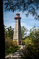 Gibralter Point Lighthouse stands vigil over Toronto Islands Park, a popular spot in Lake Erie just a ten minute ferry off the Toronto waterfront.